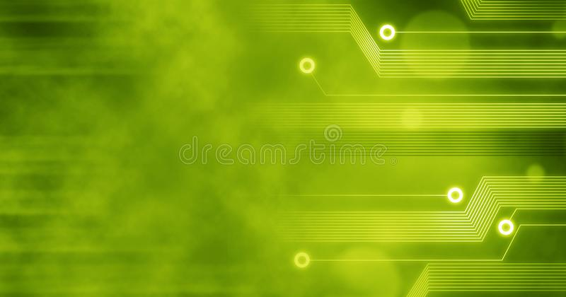 Technology Background, Computer future linien creative circuit concept green yellow vector illustration