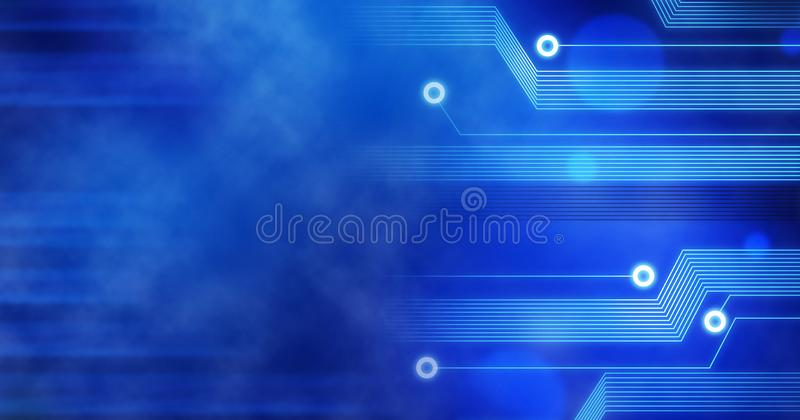 Technology Background, Computer future linien creative circuit blue royalty free illustration
