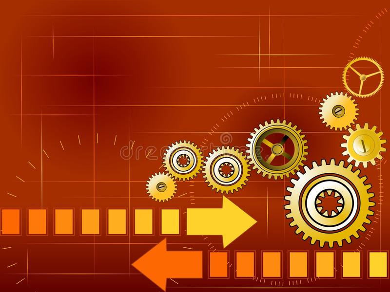 Technology background with gears stock illustration