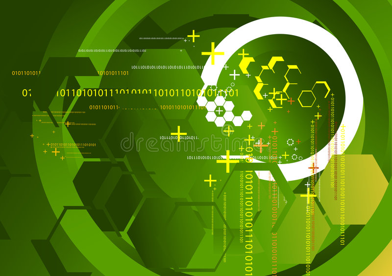 Technology Background Green. A Technology Background with polygons royalty free illustration