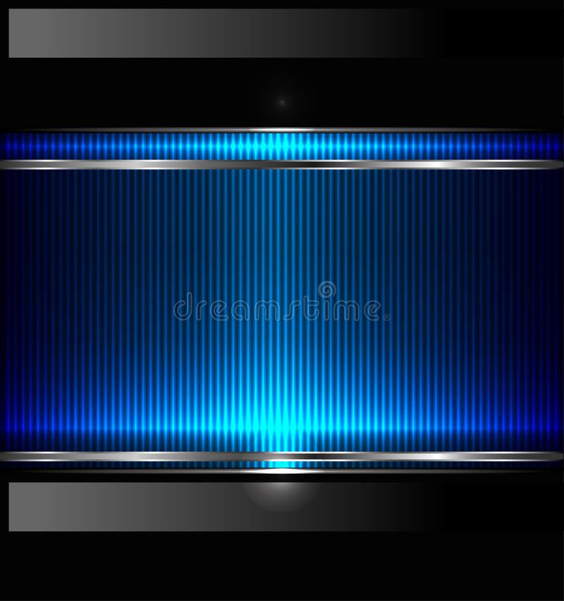 Technology background with metallic banner. vector. Illustration