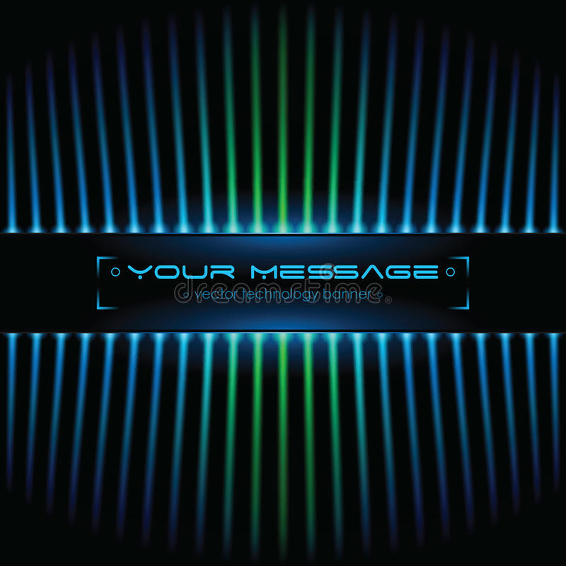 Technology background with space for text. Vector illustration stock illustration