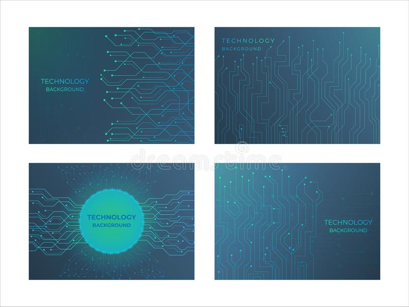 Technology background structure line style with flow data node design. Vector illustration royalty free illustration