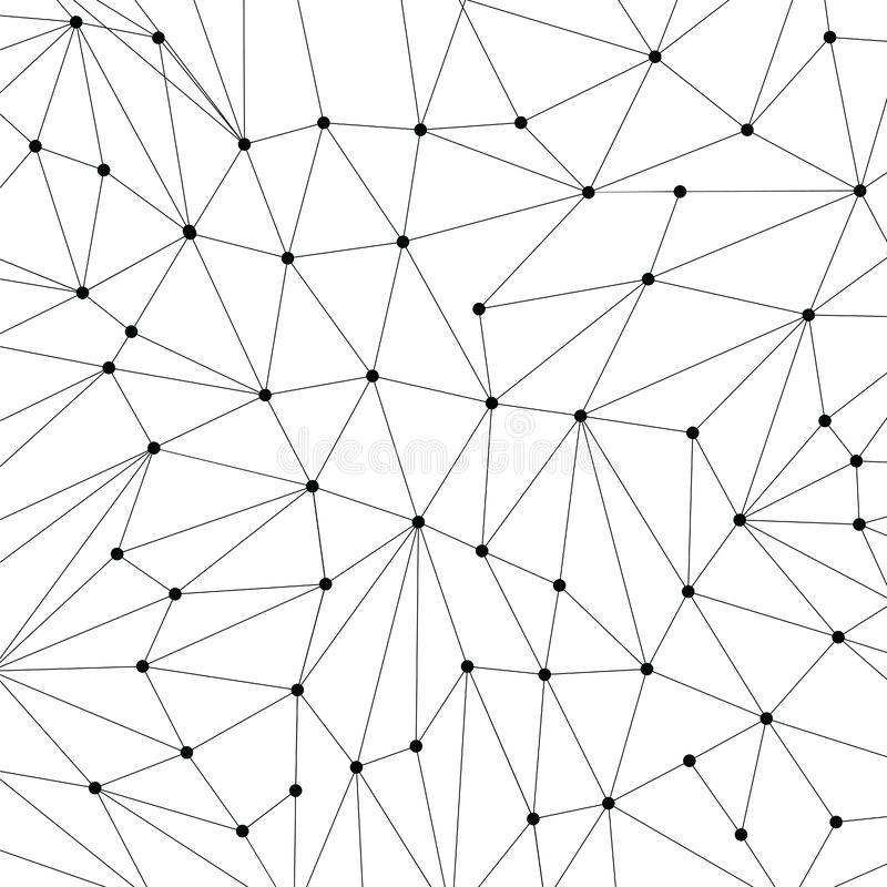 Technology background for web site from black points of connection lines on white background. Abstract information background. IT. Development conception royalty free illustration