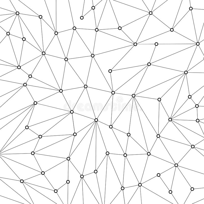 Technology background for web site from black points of connection lines on white background. Abstract information background. IT. Development conception vector illustration