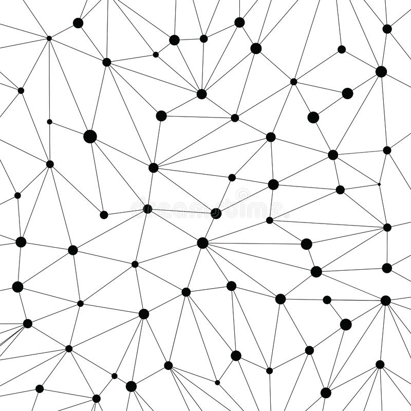 Technology background for web site from various black points of. Connection lines on white background. Abstract information background. IT-development royalty free illustration
