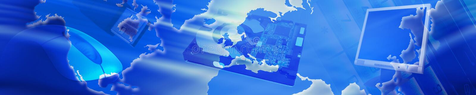 Technology banner stock illustration