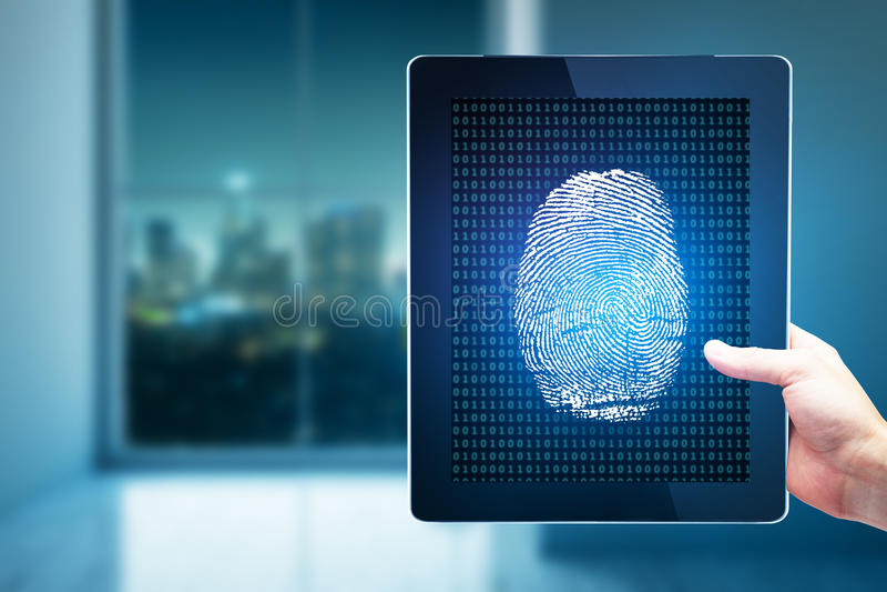 Technology, biometrics and innovartion concept stock photos