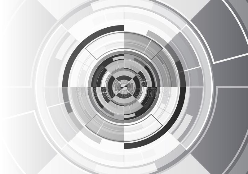 Technology black white circle design modern futuristic background vector vector illustration