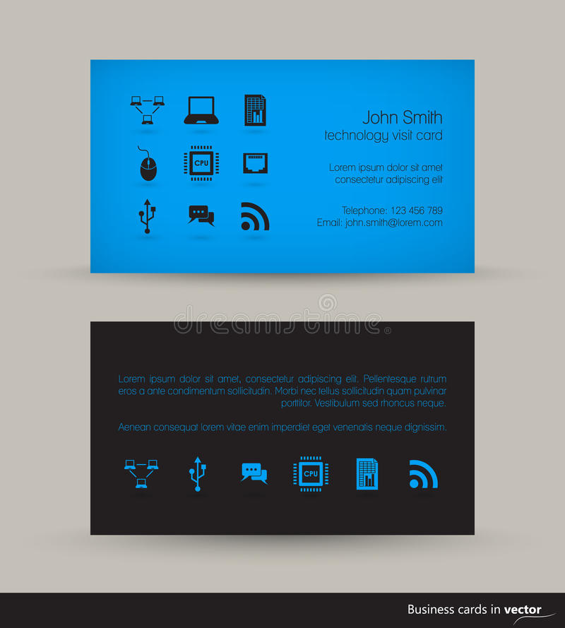 Technology business card stock illustration. Illustration of ...