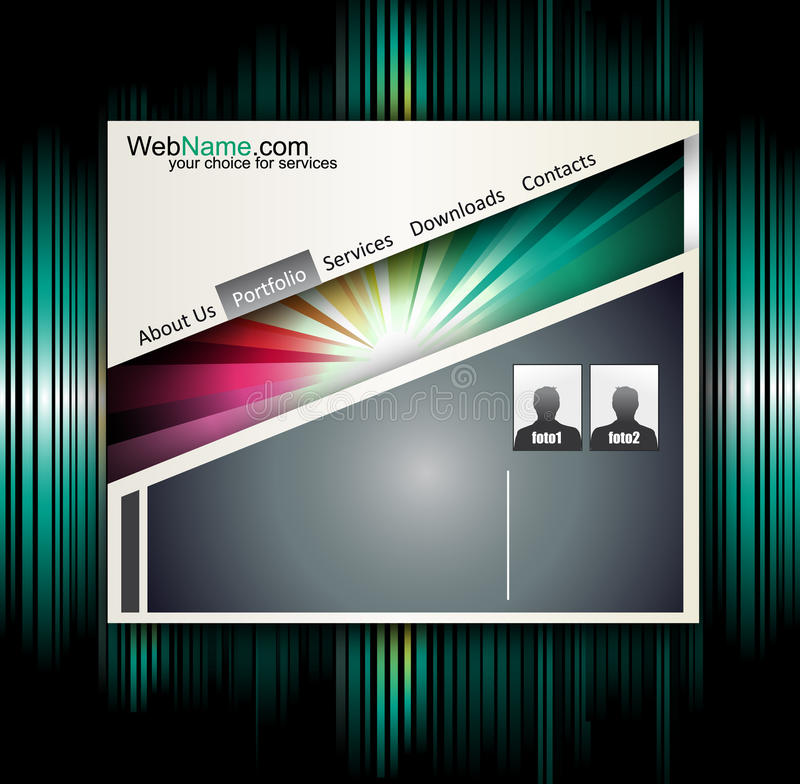 Technology and Business Style Website template royalty free stock photos