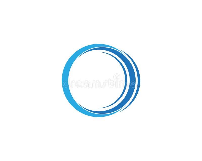 Technology circle logo and symbols Vector stock illustration