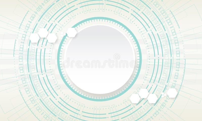Technology circle on white background. vector illustration. royalty free illustration