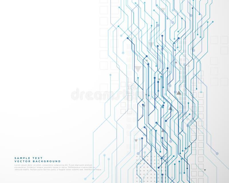 Technology circuit diagram network background. Illustration royalty free illustration