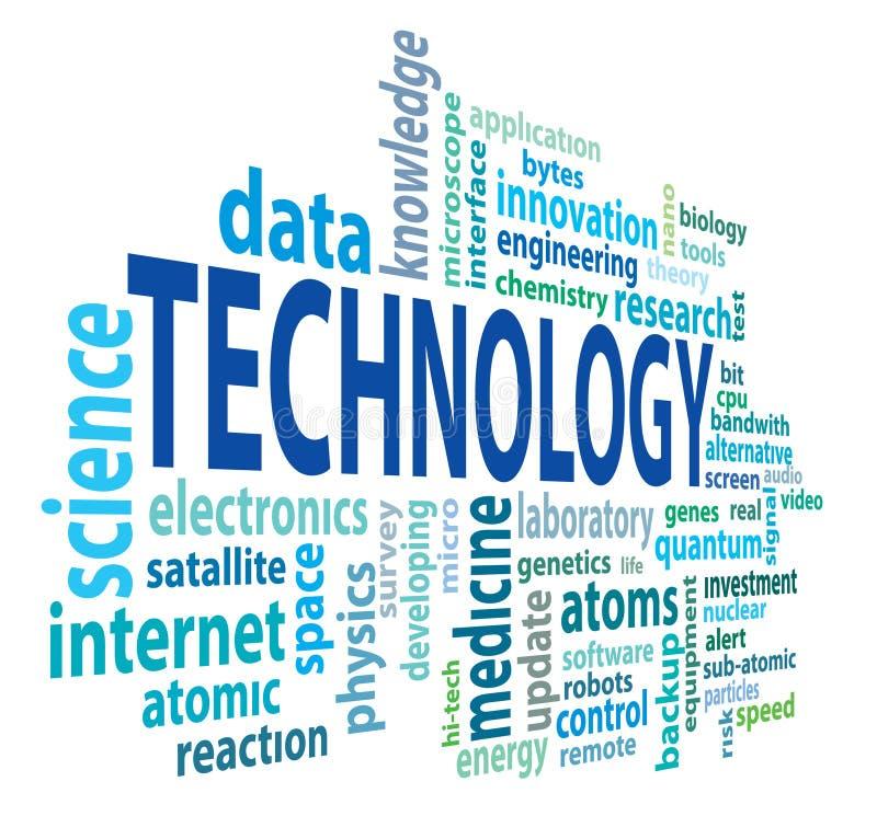 Technology cloud royalty free illustration