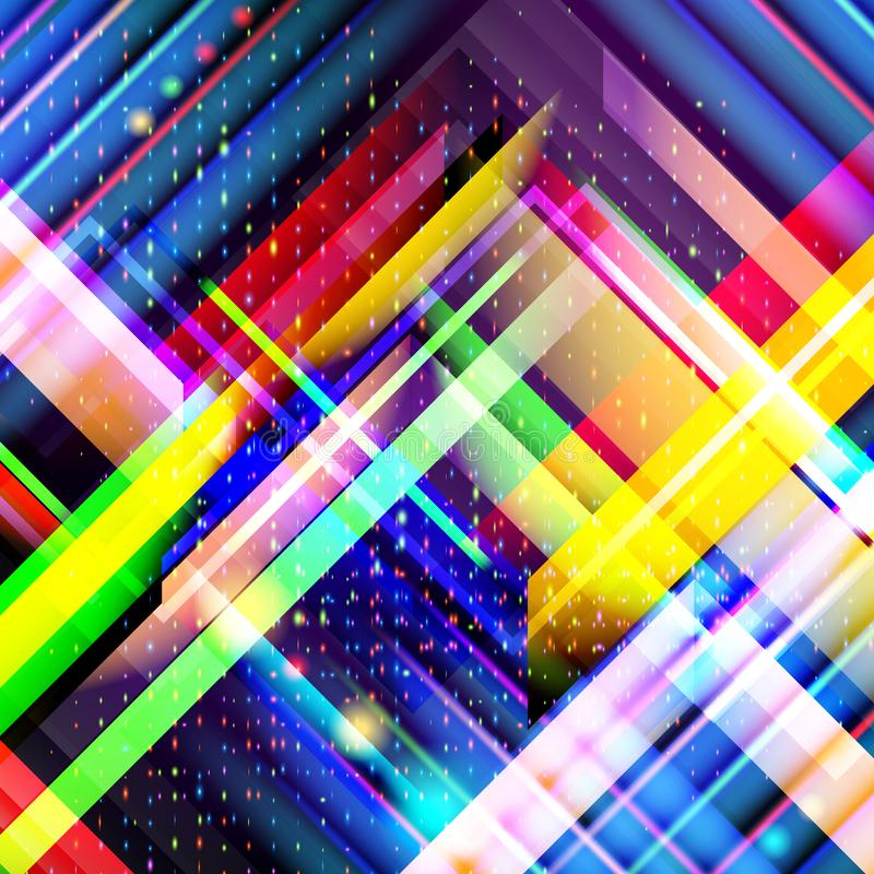 Technology colorful abstract background. Digital technology concept. Abstract futuristic, shiny lines background. stock illustration