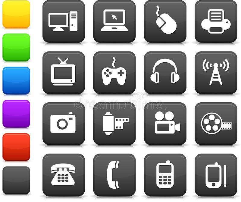 Download Technology And Communication Design Elements Stock Illustration - Image: 12393295