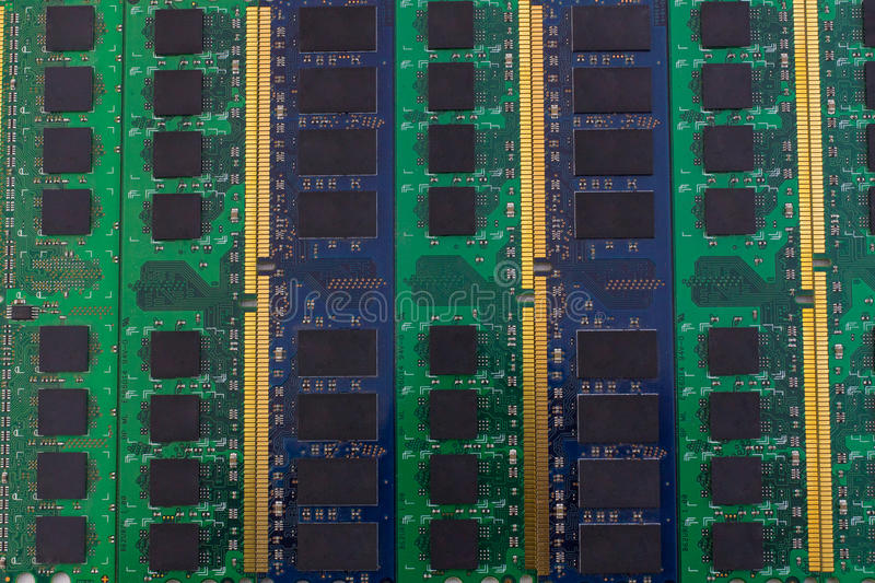 Technology computer component background RAM with copyspace. For text royalty free stock image