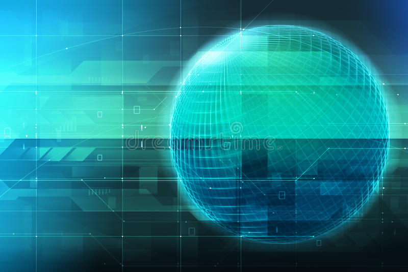 Download Technology Concept & Glowing Globe Stock Photo - Image: 11663720