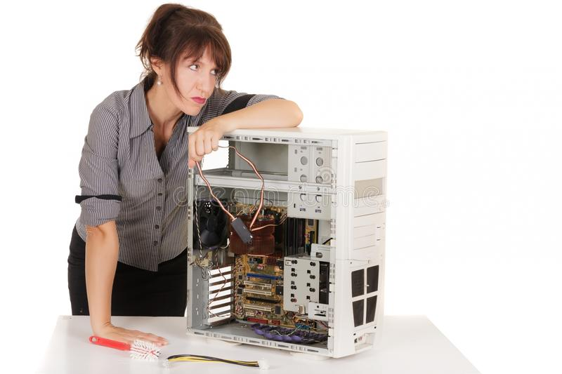 Download Technology confusion stock image. Image of busineswoman - 26225321