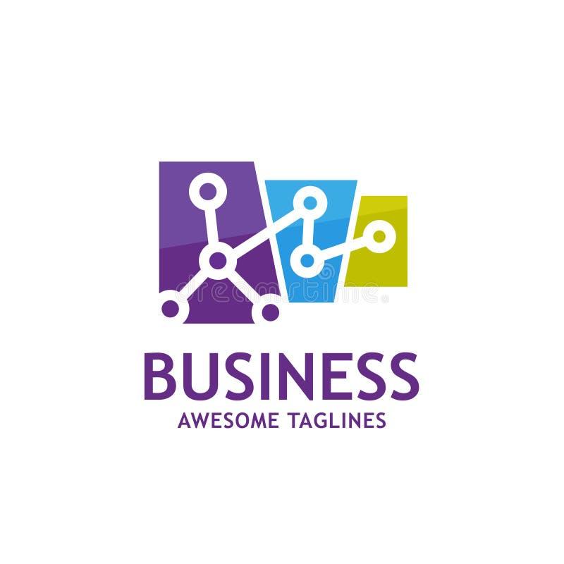 Technology connect logo royalty free illustration