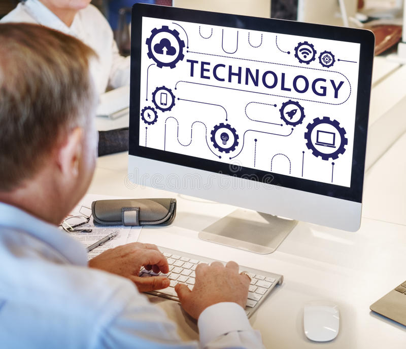 Technology Connecting Cloud Network Concept stock photo