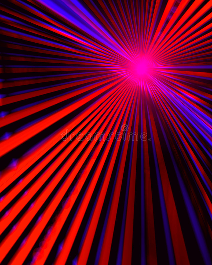 Technology Connections Abstract. Colorful and bright technology abstract design with burst of powerful colorful vivid red and blue laser lights connecting stock illustration