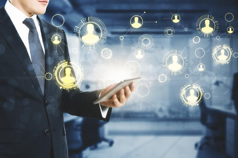 Technology and cryptocurrency concept stock image