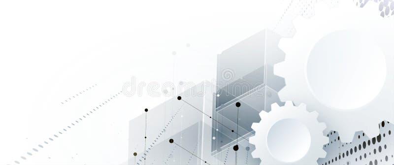 Technology data background, idea of global business solution. Technology innovation background, idea of global business solution stock illustration