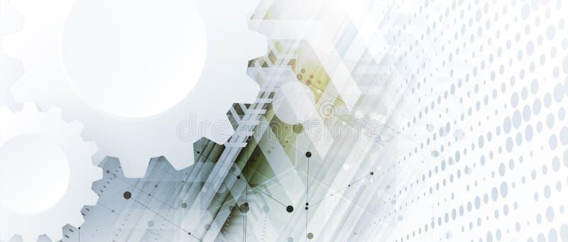 Technology data background, idea of global business solution. Technology innovation background, idea of global business solution vector illustration