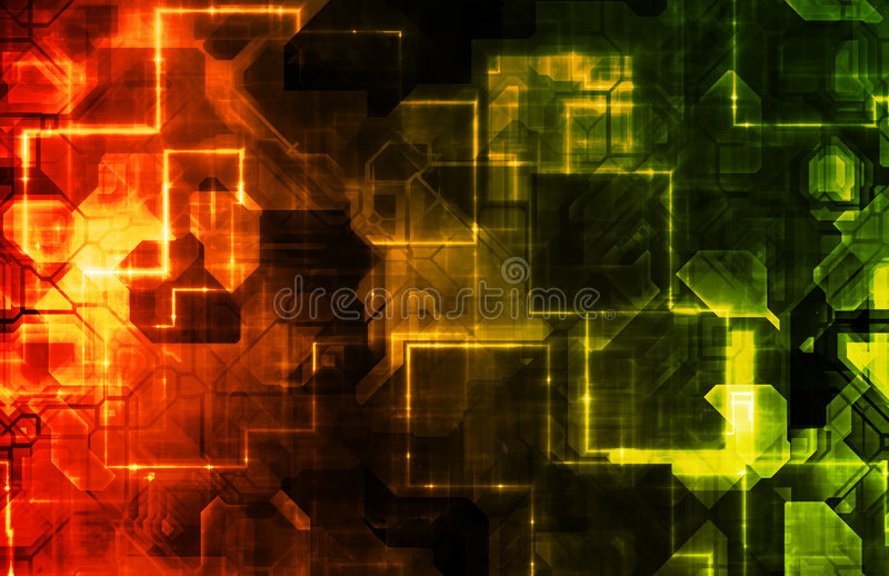 Technology Data Research and Development royalty free illustration