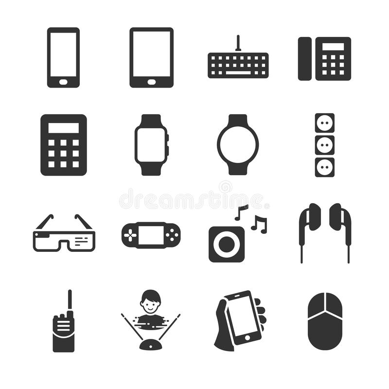 Technology device icons vector illustration