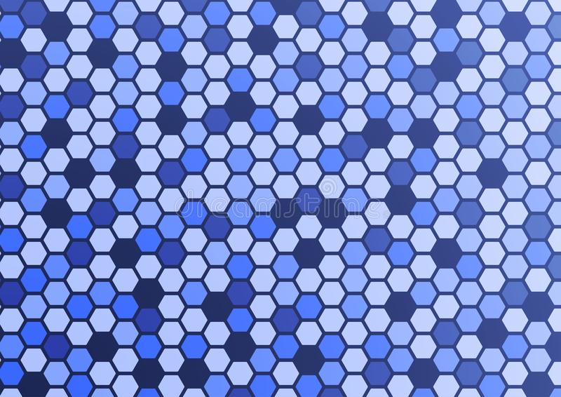 Abstract pattern hexagon blue background stock images