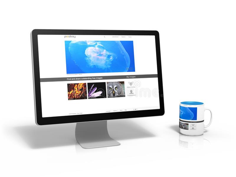 Technology, Display Device, Computer Monitor, Output Device stock photo