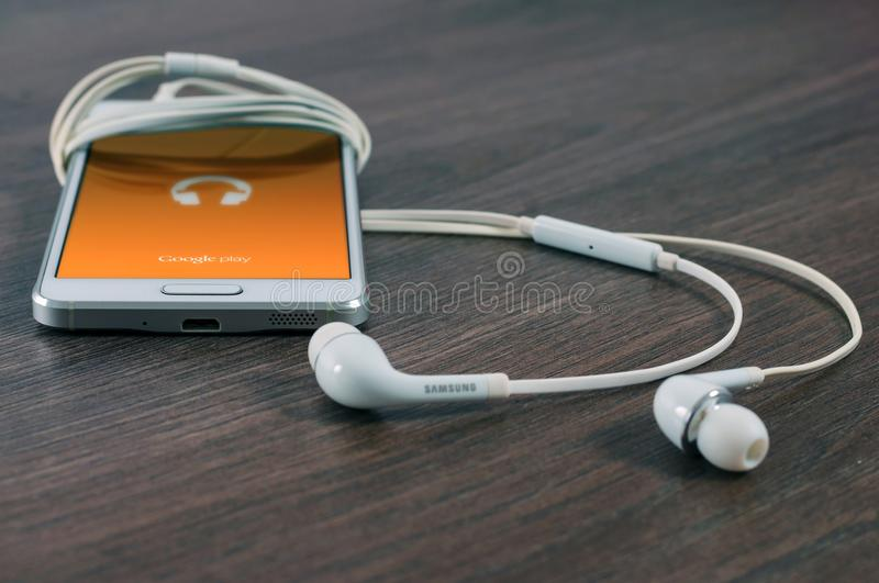 Technology, Electronic Device, Headphones, Audio Equipment stock image