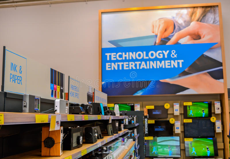 Technology & Entertainment. A picture of technology & Entertainment signage in a store royalty free stock images