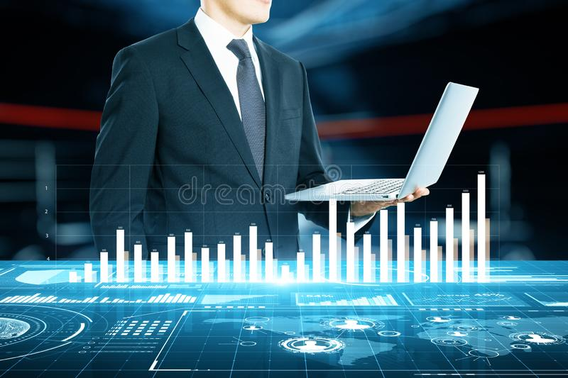 Technology and finance concept royalty free stock photography