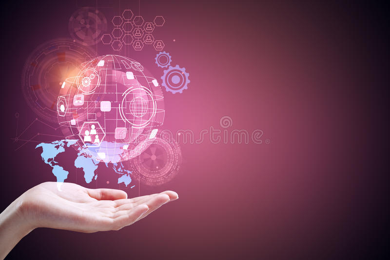 Technology, future and innovation royalty free stock photo