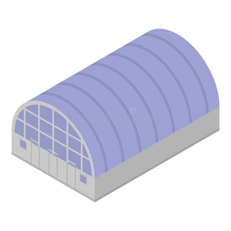 Technology hangar icon, isometric style vector illustration