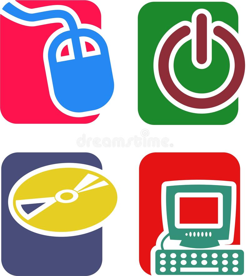 Download Technology Icon Set stock illustration. Illustration of theme - 44491959
