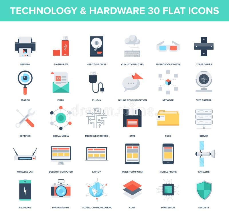 Technology icons royalty free illustration