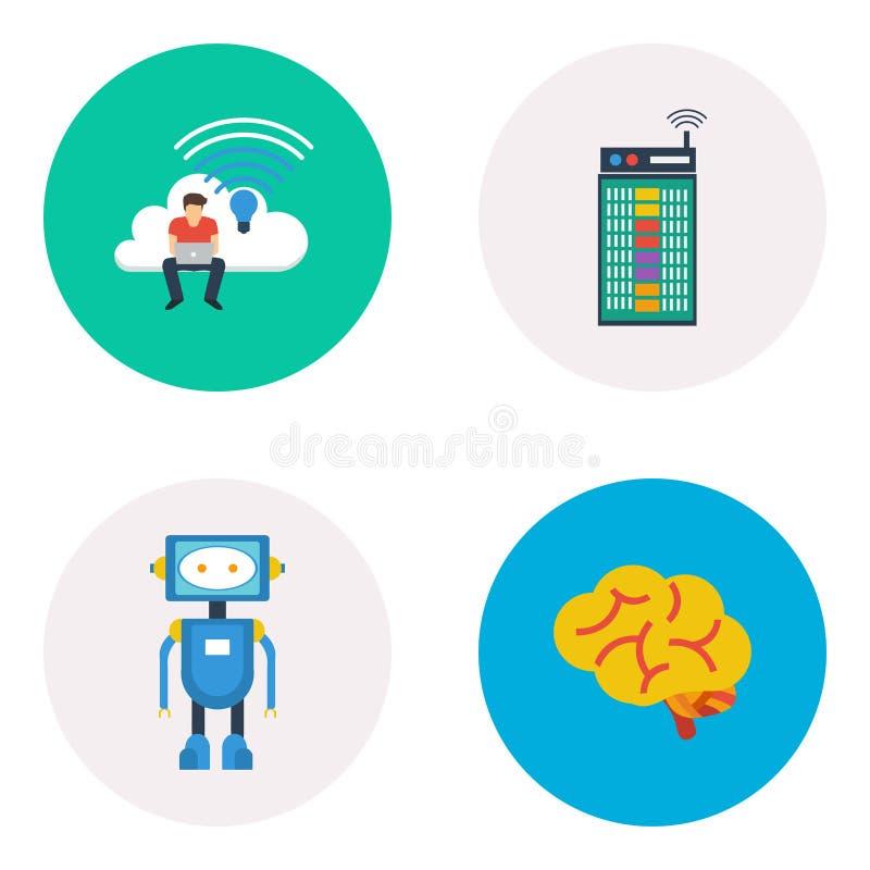 Robot Tech Infographic Diagram Stock Vector