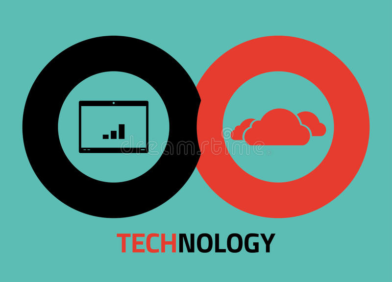 Technology icons for infographics royalty free illustration