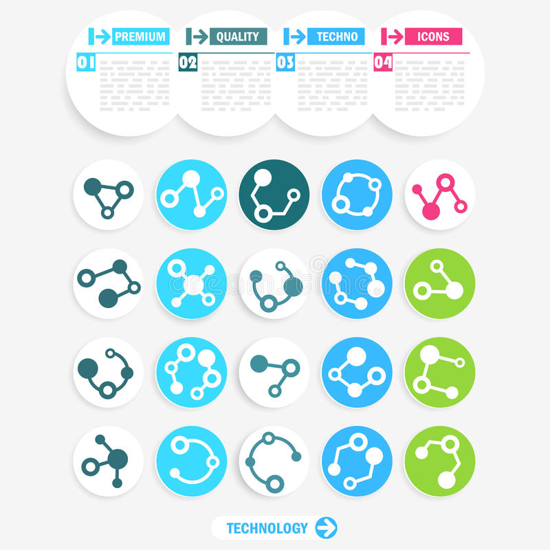 Download Technology icons stock vector. Illustration of molecule - 31904839