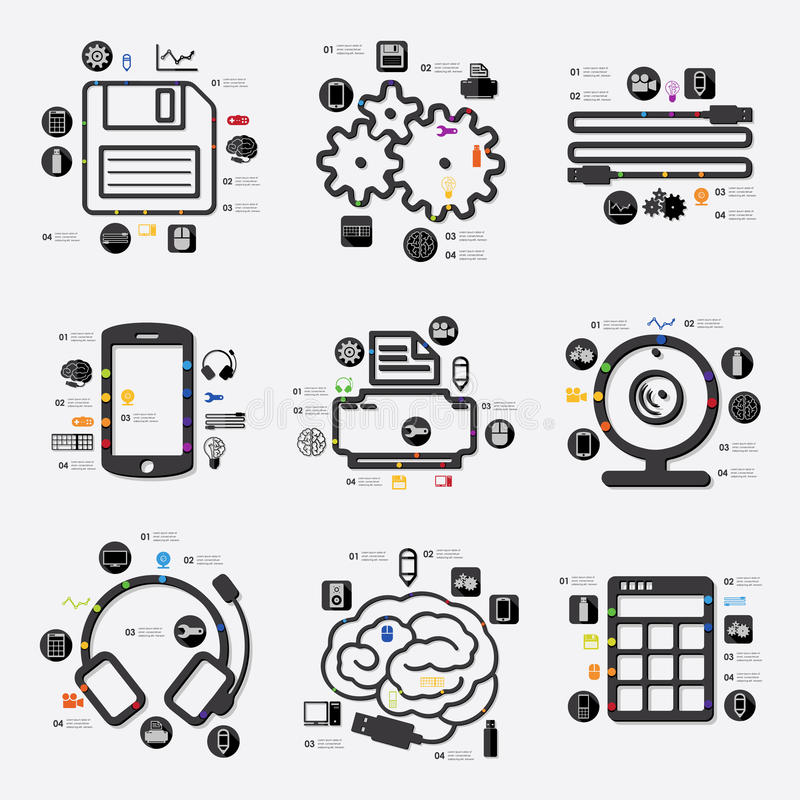 Technology infographic stock illustration