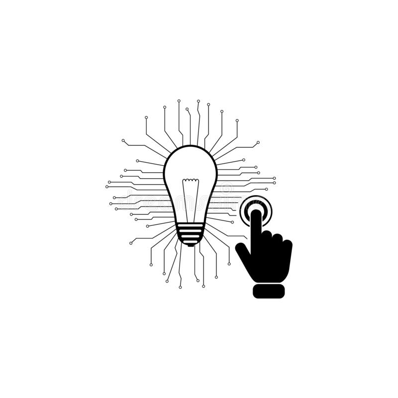 Technology innovation concept on touch screen icon. Element of touch screen technology icon. Premium quality graphic design icon. Signs and symbols collection stock illustration
