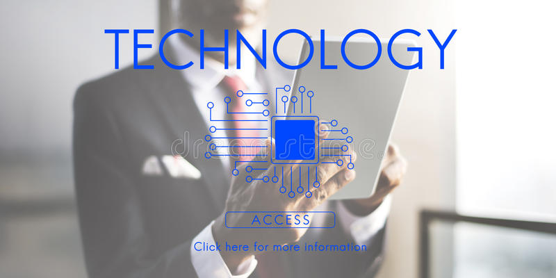 Technology Innovation Connection Internet Communication Concept stock photo