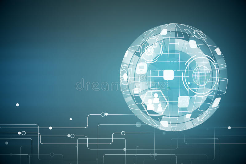 Technology, innovation and future concept royalty free illustration
