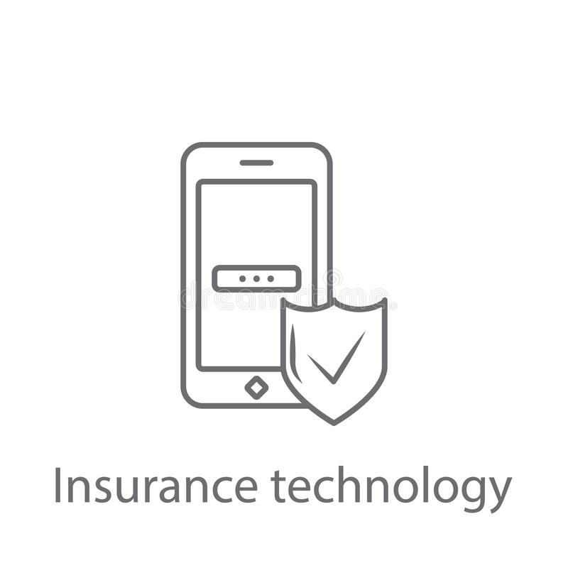 Technology Insurance icon. Simple element illustration. Technology Insurance symbol design from Insurance collection set. Can be u. Sed for web and mobile on stock illustration
