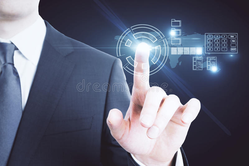 Technology and interface concept royalty free stock photography